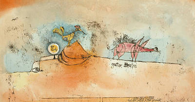Drawing - Where The Eggs And The Good Roast Come From by Paul Klee
