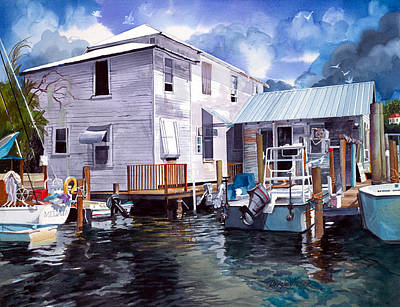 Painting - Whiddens Marina by Douglas Teller
