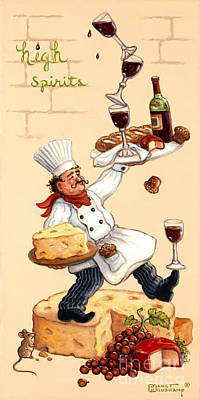 Whimsical Chef High Spirits Original by Janet  Kruskamp