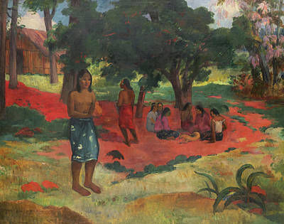 Painting - Whispered Words by Paul Gauguin