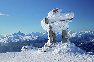 Photograph - Whistler Mountain Inukshuk by Pierre Leclerc Photography