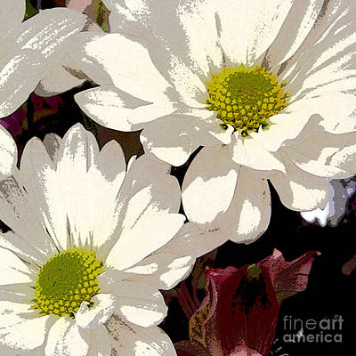 White Daisies Art Print by Marsha Young