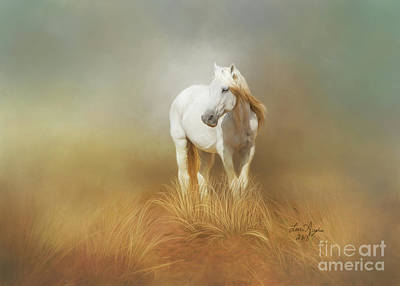 Digital Art - White Horse by Lena Auxier