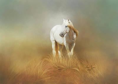 Digital Art - White Horse by Lena Auxier
