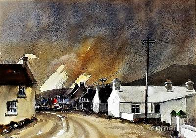 Painting - White Houses Of Achill Mayo by Val Byrne