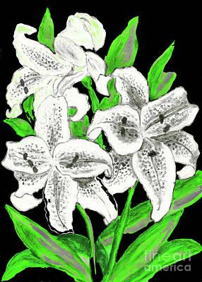 Painting -  White Lilies by Irina Afonskaya