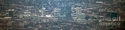 Photograph - White Plains, New York Aerial Photo by David Oppenheimer