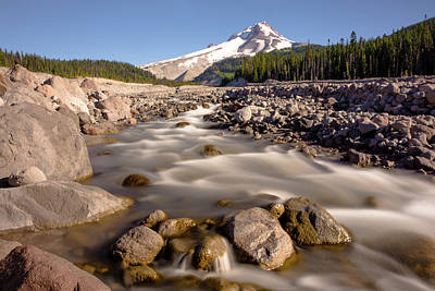 Photograph - White River Glacial Outwash Channel by Michael Balen