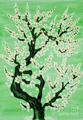 Painting - White Tree In Blossom, Painting by Irina Afonskaya