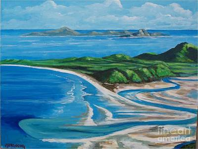 Painting - Whiteheaven Island by Jean Pierre Bergoeing