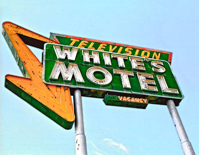 White's Motel Art Print by Matthew Bamberg