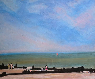 Painting - Whitstable Beach by Paul Mitchell