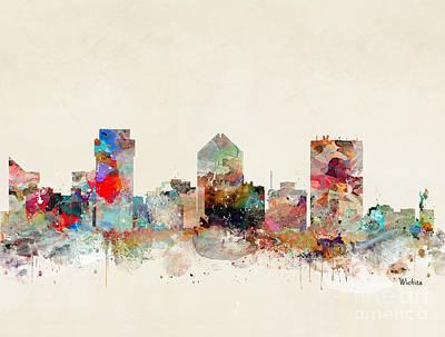Painting - Wichita Kansas by Bleu Bri