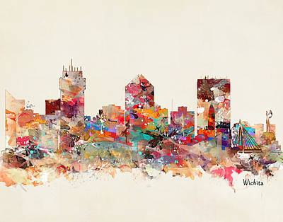 Painting - Wichita Kansas Skyline by Bri B