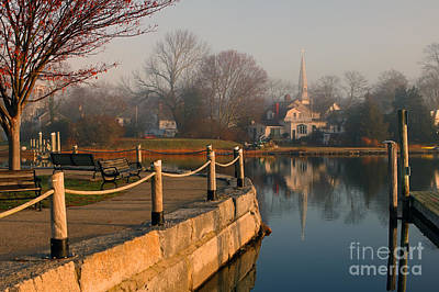 Wickford Harbor Art Print by Jim Beckwith