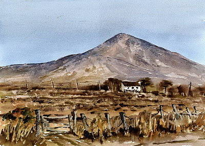 Painting - F 809  Wicklow... Kilpedder Homestead On The Sugarloaf by Val Byrne