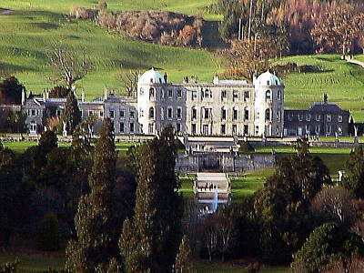 Photograph - Wicklow.. Powerscourt House, Enniskerry by Val Byrne