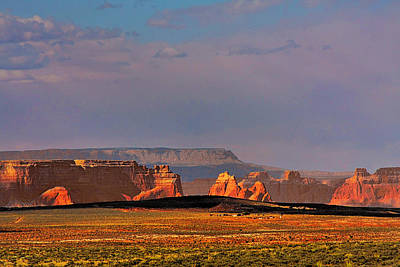 Wide-open Spaces - Page Arizona Art Print by Christine Till