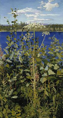 Nationalism Painting - Wild Angelica by Akseli Gallen-Kallela