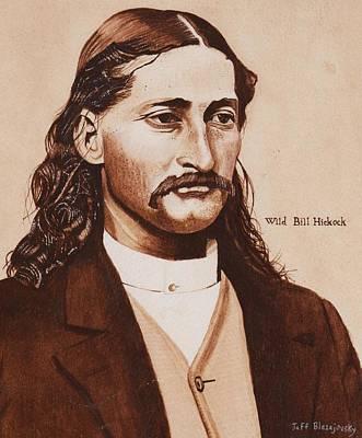 Wild Bill Hickock Art Print by Jeff Blazejovsky