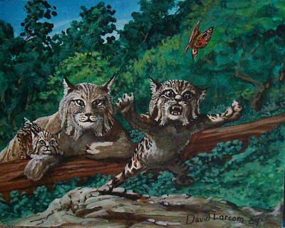 Wild Bob Art Print by David  Larcom