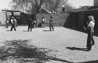 Wild Bunch Re-enacting The O.k. Corral Gunfight Tombstone Arizona 1983-2015  Art Print