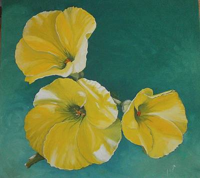 Shading On Flowers Painting - Wild Flower by Maria Woithofer