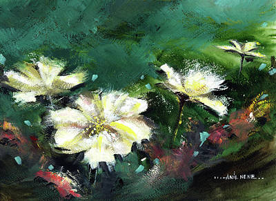 Painting - Wild Flowers by Anil Nene