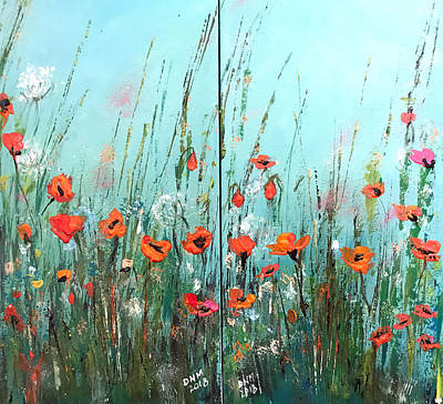 Painting - Wild Flowers by Dorothy Maier
