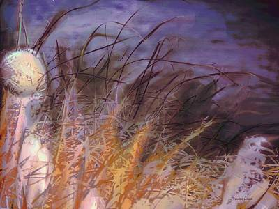 River Scenes Mixed Media - Wild Grasses by Lenore Senior