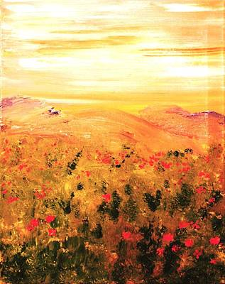 Wild Roses Art Print by Evelina Popilian