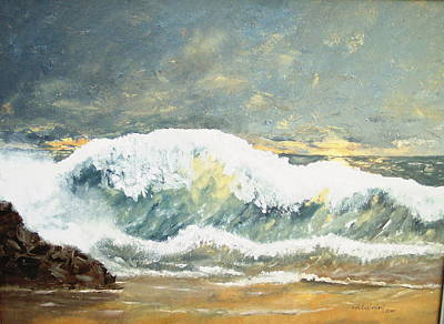 Wild Wave Art Print by Miroslaw  Chelchowski