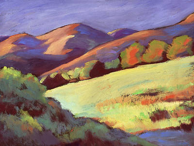Painting - Wildcat Canyon Hillside by Linda Ruiz-Lozito