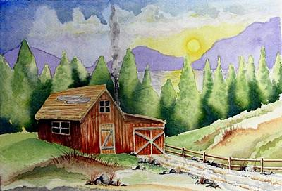 Wilderness Cabin Art Print