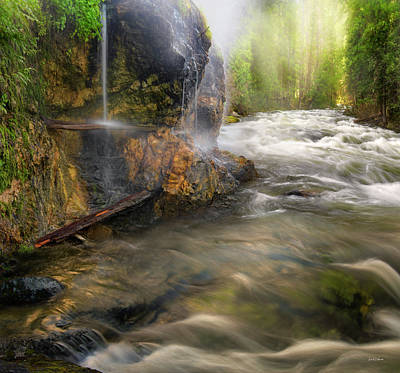 Art Print featuring the photograph Wilderness Hot Springs by Leland D Howard