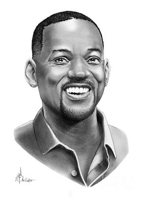 Famous People Drawing - Will Smith by Murphy Elliott