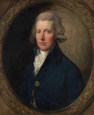 Male Painting - William Pitt by Thomas Gainsborough