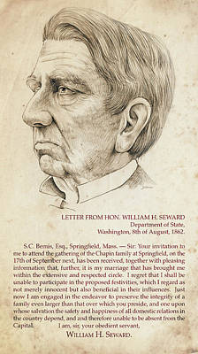 Mixed Media Royalty Free Images - William Seward Royalty-Free Image by Greg Joens