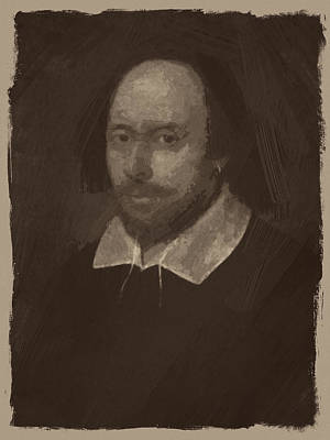 Shakespeare Digital Art - William Shakespeare by Afterdarkness