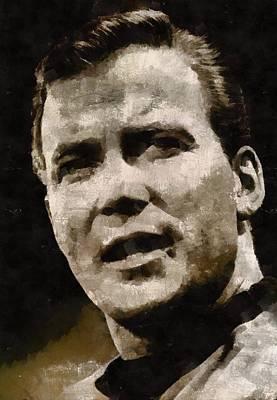 William Shatner Star Trek's Captain Kirk Art Print