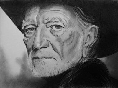 Willie Nelson Drawing - Willie Nelson by Blackwater Studio