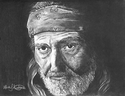 Willie Nelson Drawing - Willie Nelson  by Nikki Schuitema