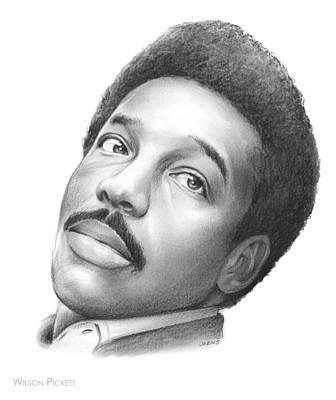 Music Drawing - Wilson Pickett by Greg Joens
