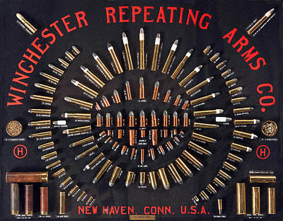 Painting - Winchester Repeating Arms Cartridge Board by Unknown