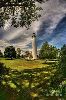Photograph - Wind Point Lighthouse by David Bearden