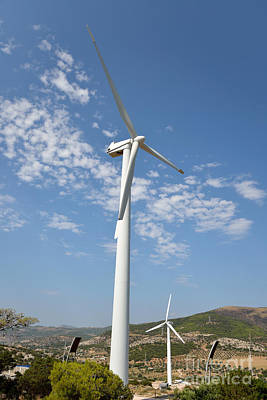 Turbines Photograph - Wind Turbines by George Atsametakis