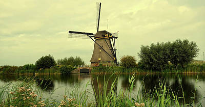 Photograph - Windmill And Canal - The Netherlands by Pixabay