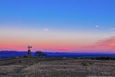 Photograph - Windmill At Sunrise by Tim Kathka