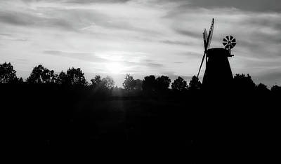 Photograph - Windmill At Sunset by Kathy Buscher