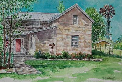 Mike Martin Painting - Windmill Inn by Mike Martin